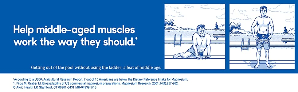 middle age slowmag slow mag mineral magnesium chloride heart muscle nervous system function