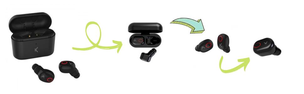 Ksix Free Pods Kopfhörer 100 Kabellos Mit Mikrofon Elektronik