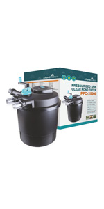 All Pond Solutions Pressurised Koi Fish Pond Filter and UV