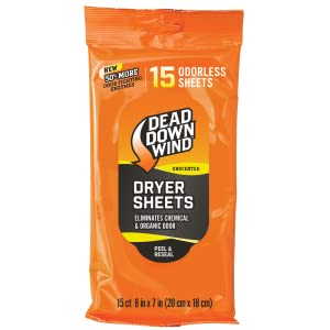 Dryer Sheets Dead Down Wind Laundry Hunting Scent Eliminator