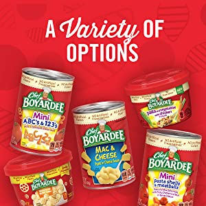 Enjoy a variety of fun shaped pasta kid friendly meals with Chef Boyardee