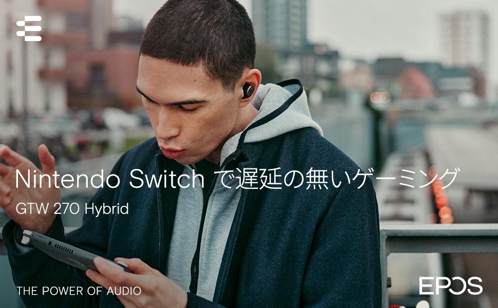 True Wireless, GTW 270, Hybrid, EPOS, Nintendo Switch, Low Latency, USB-C