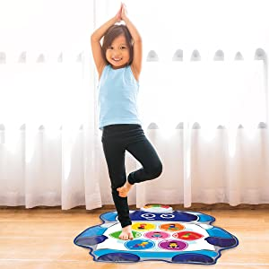 Infinifun My First Yoga Mat, White/Blue