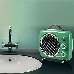 Vintage ventilatorkachel Widder groen.