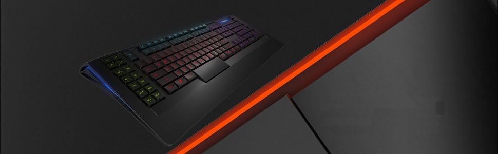 SteelSeries Apex 350, Teclado de Juego, iluminación RGB 5 Zonas, 22 Teclas Macro, 2 hub USB, (PC/Mac) - Disposición US QWERTY