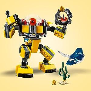Lego Creator 3in1 Underwater Robot 31090 Building Kit 207 Piece
