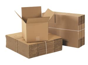 Kraft Artwork Books 18 x 18 x 4 Boxes Fast BF18184 Corrugated Cardboard Flat Shipping Boxes Pack of 25 for Clothing Picture Frames and Mirrors