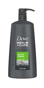 Dove Men+Care Extra Fresh Body Wash 23.5 oz with Pump