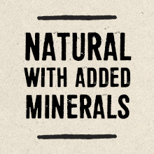 Natural with added minerals