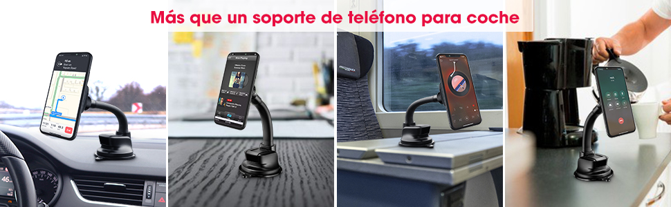 Huawei P20 Samsung Galaxy S9//S8//S7 Soporte M/óvil Coche Magn/ético Universal para Soporte Smartphone Coche para iPhone 7//6//X//8X//11 2 Pack