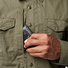 5.11 Ready Pocket on chest for storing documents or a phone