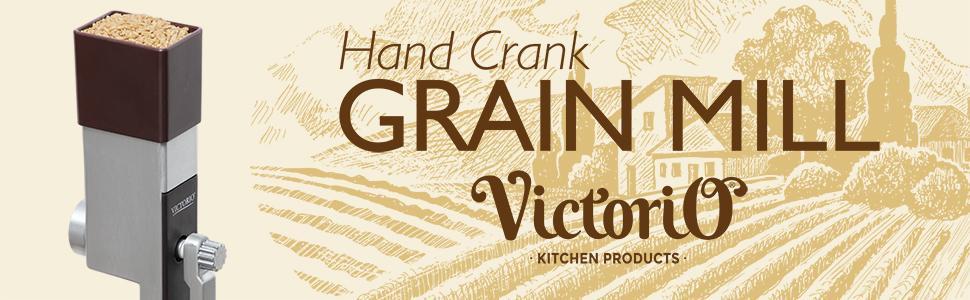 victorio hand crank grain mill vkp1012 - Grain Grinder