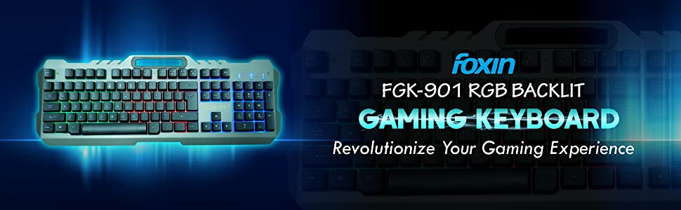 Foxin FGK-901 RGB Backlit Gaming Keyboard (Black)