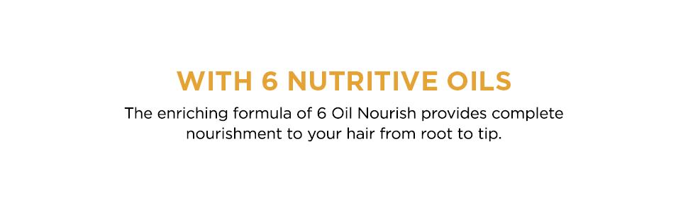 shampoo, loreal paris, 6 oil nourish