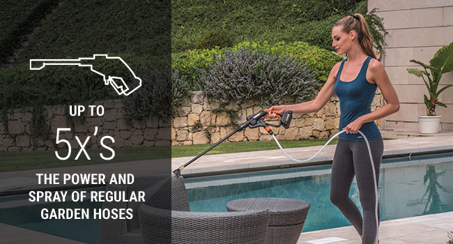 The Bottle Connector makes the Hydroshot the first completely portable power washer