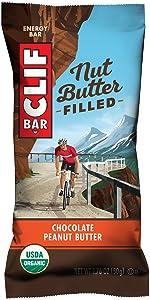clif bar, cliff bar, nut butter, chocolate, peanut butter, organic, energy bar, nutrition bar