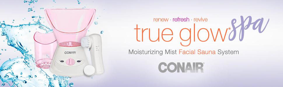conair true glow conair mdf3r  true glow conair steam facial sauna