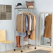 Whitmor Storage Organization closet garment hanging