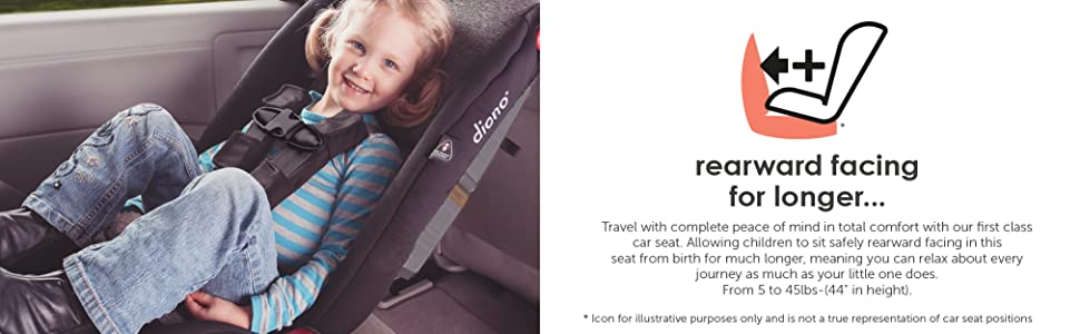 Diono Radian R100 All In One Convertible Car Seat For Children From Birth To 100 Pounds