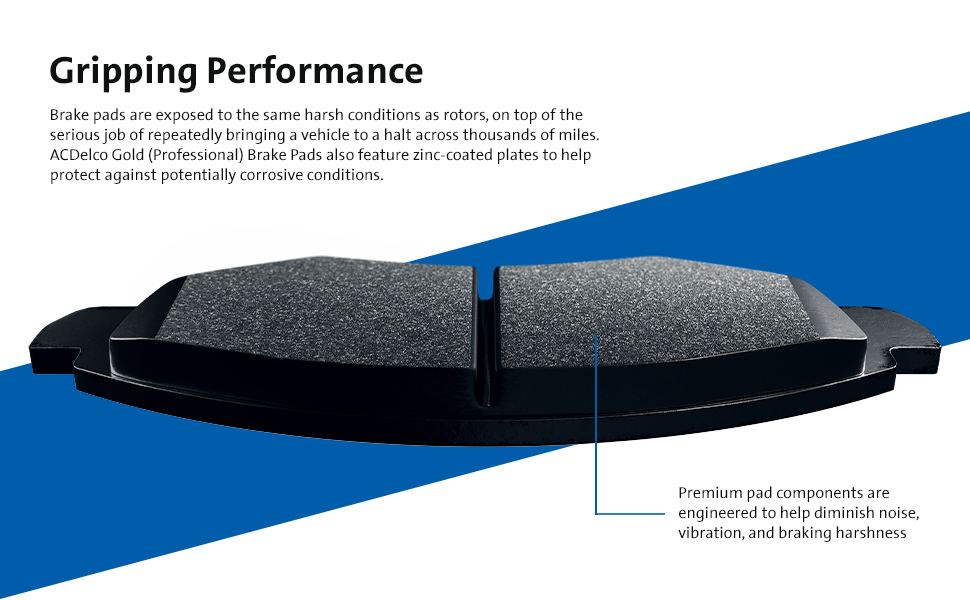 Description of ACDelco Gold (Professional) Brake Pads Quality