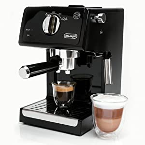 DeLonghi ECP3120 15 Bar Espresso Machine with Advanced Cappuccino System, 9.6 x 7.2 x 11.9 inches, Black/Stainless Steel