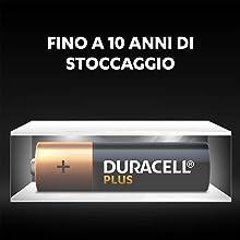 La tecnologia Duralock mantiene le batterie Duracell non usate fresche e cariche fino a 10 anni