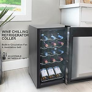 Chiller Countertop Cooler;Compact Mini Wine Fridge;Refrigerator;Wine Cooler;cooler