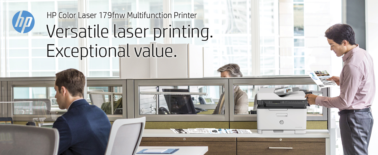 HP Color Laser 179fnw Multifunction Printer all-in-one office business versatile printing value