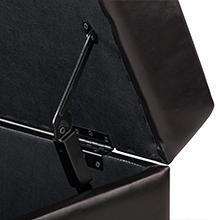 Rectangle Storage Ottoman Espresso Faux Leather