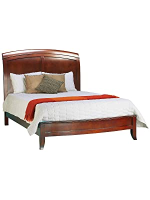 Amazon Com Modus Furniture Brighton Low Profile Sleigh Bed Cinnamon Queen Furniture Decor