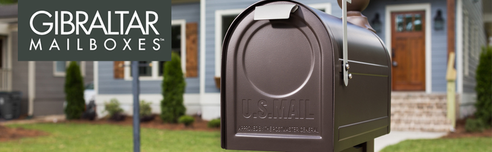 Gibraltar Mailboxes Patriot Large Capacity Rust-Proof Plastic Black,