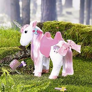 Baby born; horse; unicorn; doll accessories; magic; riding; 43 cm