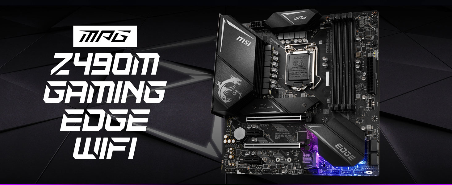 msi, mpg z490m gaming edge wifi, intel motherboard