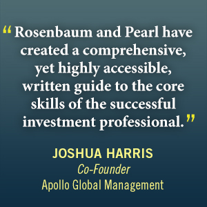 investment banking, valuation, leveraged buyouts, mergers, acquisitions, ipos, rosenbaum, pearl