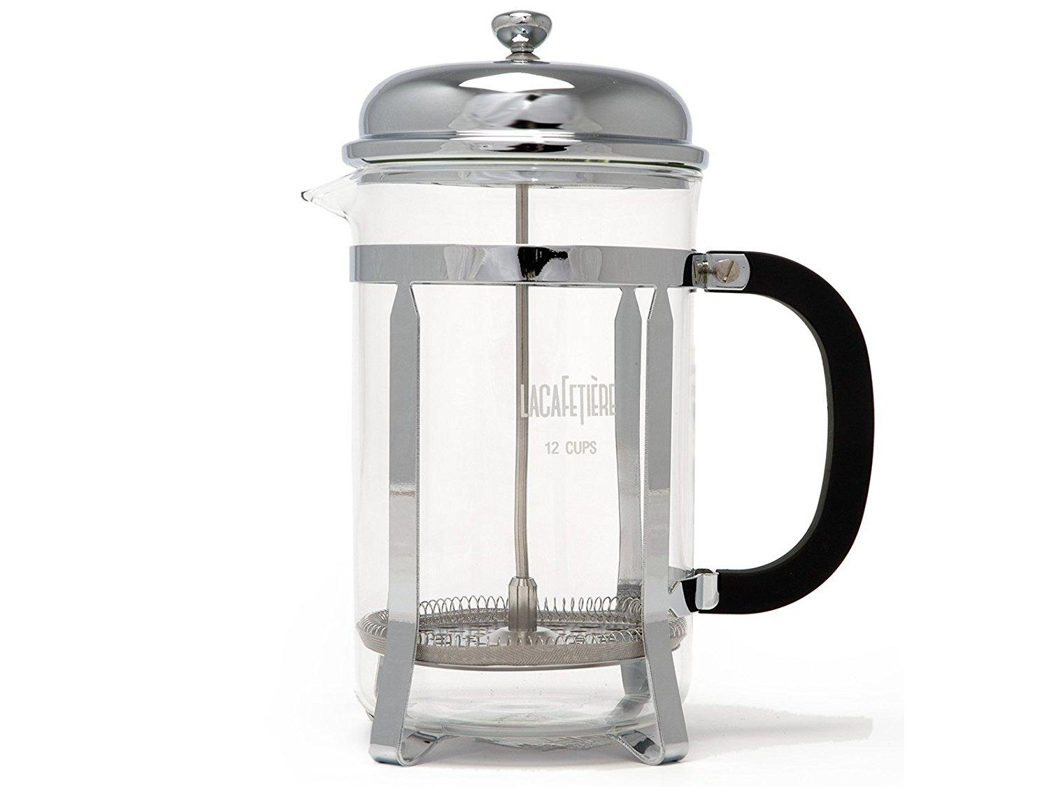 guetter styles divers magasiner pour authentique La Cafetiere Classic Chrome 12 Cup Cafetiere Coffee Maker French Press