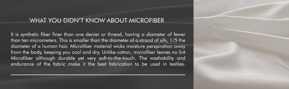 Chic Home What you didn't know about microfiber