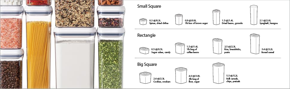 OXO POP Airtight Storage Containers