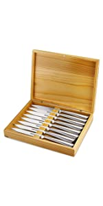 Amazon.com: Knife Set With Wooden Block - 15 Piece Set ...