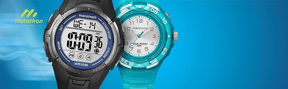 timex, marathon, sports, watch