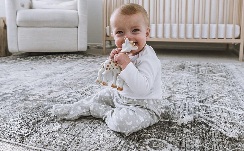 baby pants crawler play celestial grey stars moon cotton gift cozy