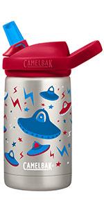 12oz Blue Rockets CamelBak Eddy Kids Insulated Water Bottle