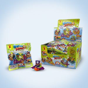 Rivals of Kaboom Supersliders 24 Count Display Superzings MBXPSZ3D824IN00 Slider Series 3 Multicoloured