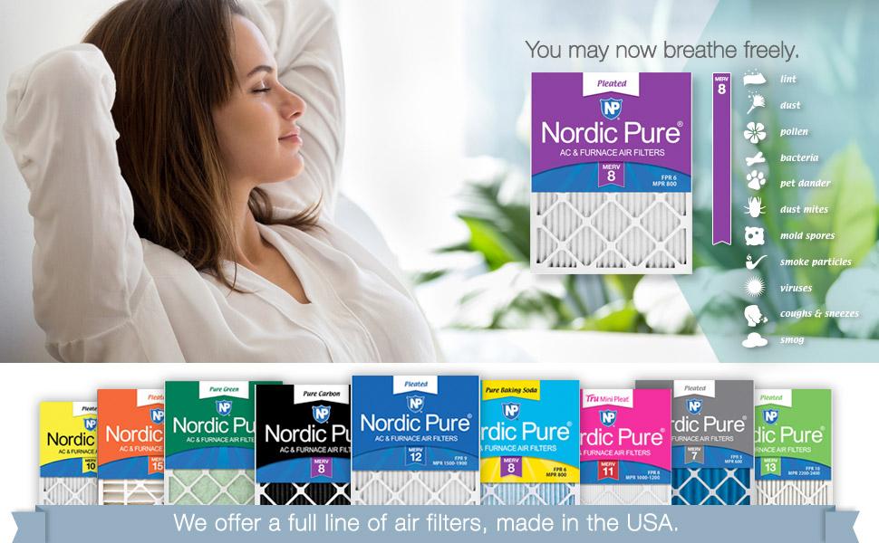 Air Filters, Nordic Pure, Furnace Filter, HVAC, MERV, Filter