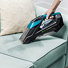 Portable carpet cleaner, shampooer, deep carpet cleaner, pet stain, spot and stain remover, cordless