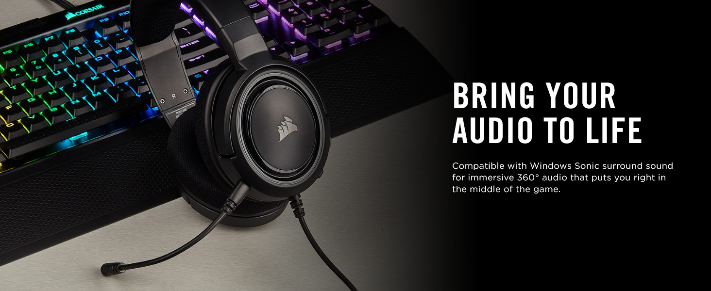 CORSAIR HS35 WIRED STEREO GAMING HEADSET life