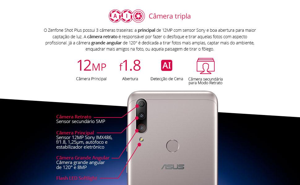 câmera tripla 12 MP