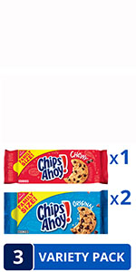 CHIPS AHOY! Original Chocolate Chip & Chewy Cookies Variety Pack, Family Size, 3 Packs