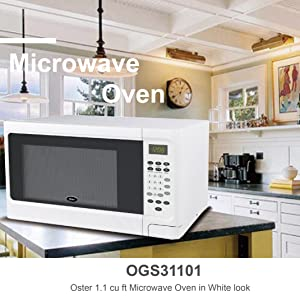 oster ogcms311we 10 1 1 cu ft microwave oven white