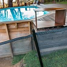 Gre SF133 Valla de Seguridad para Piscina, 1.33 m de Altura: Amazon.es: Jardín