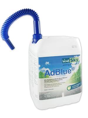 2x 10 L Bluesky Adblue Inkl Ausgießer Microfasertuch Blau 38 X 38 Cm 220 Gsm Auto